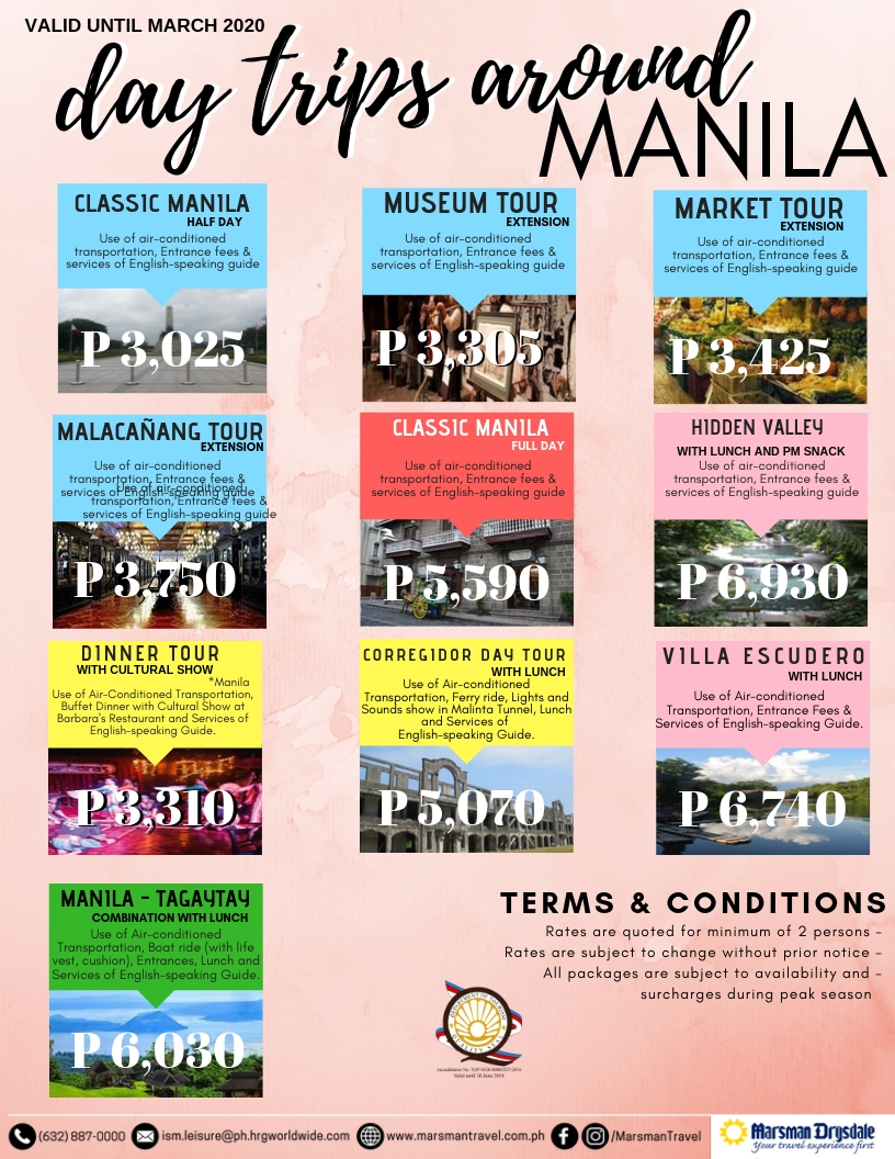 DAYTRIPS AROUND MANILA