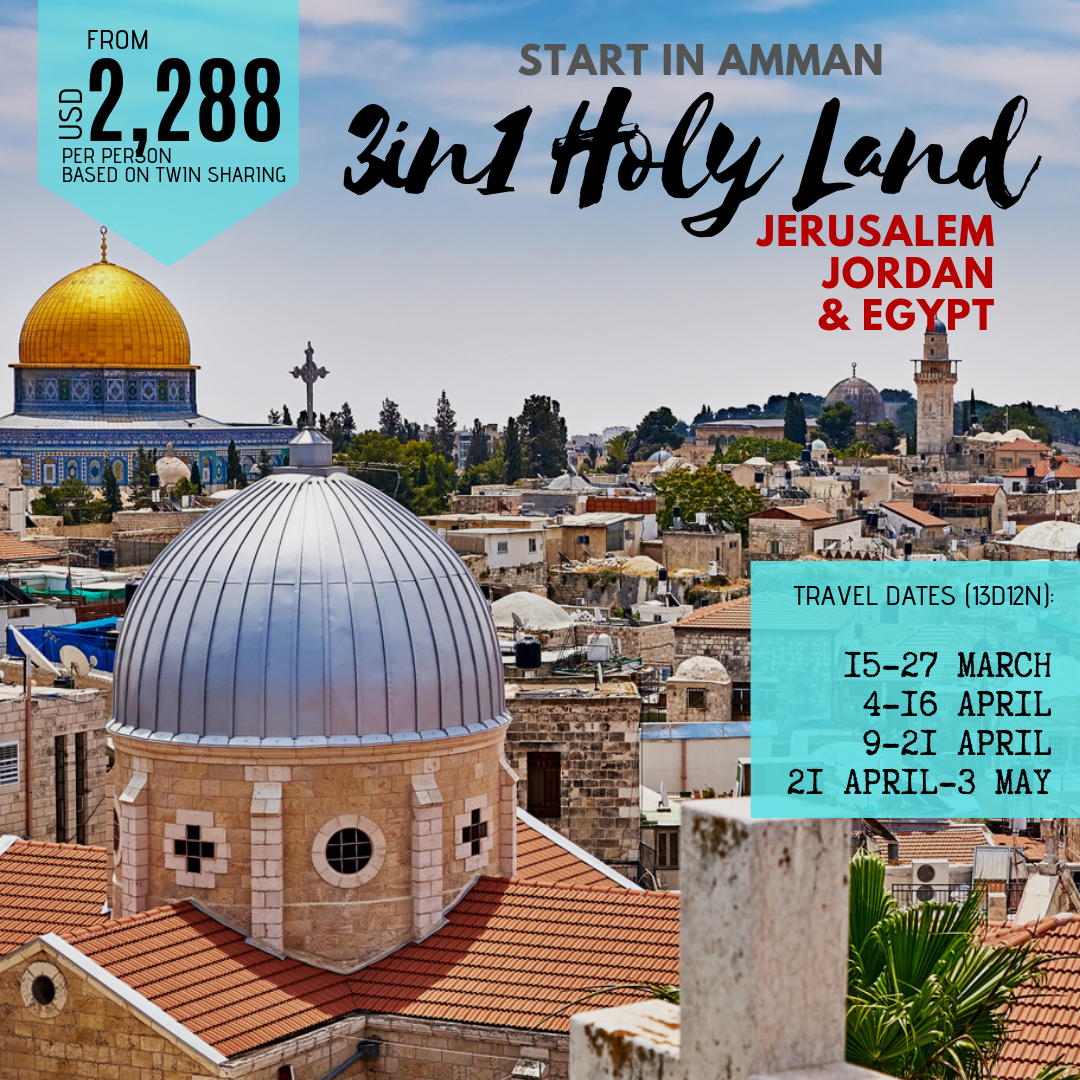 3-in-1 Holy Land from Amman