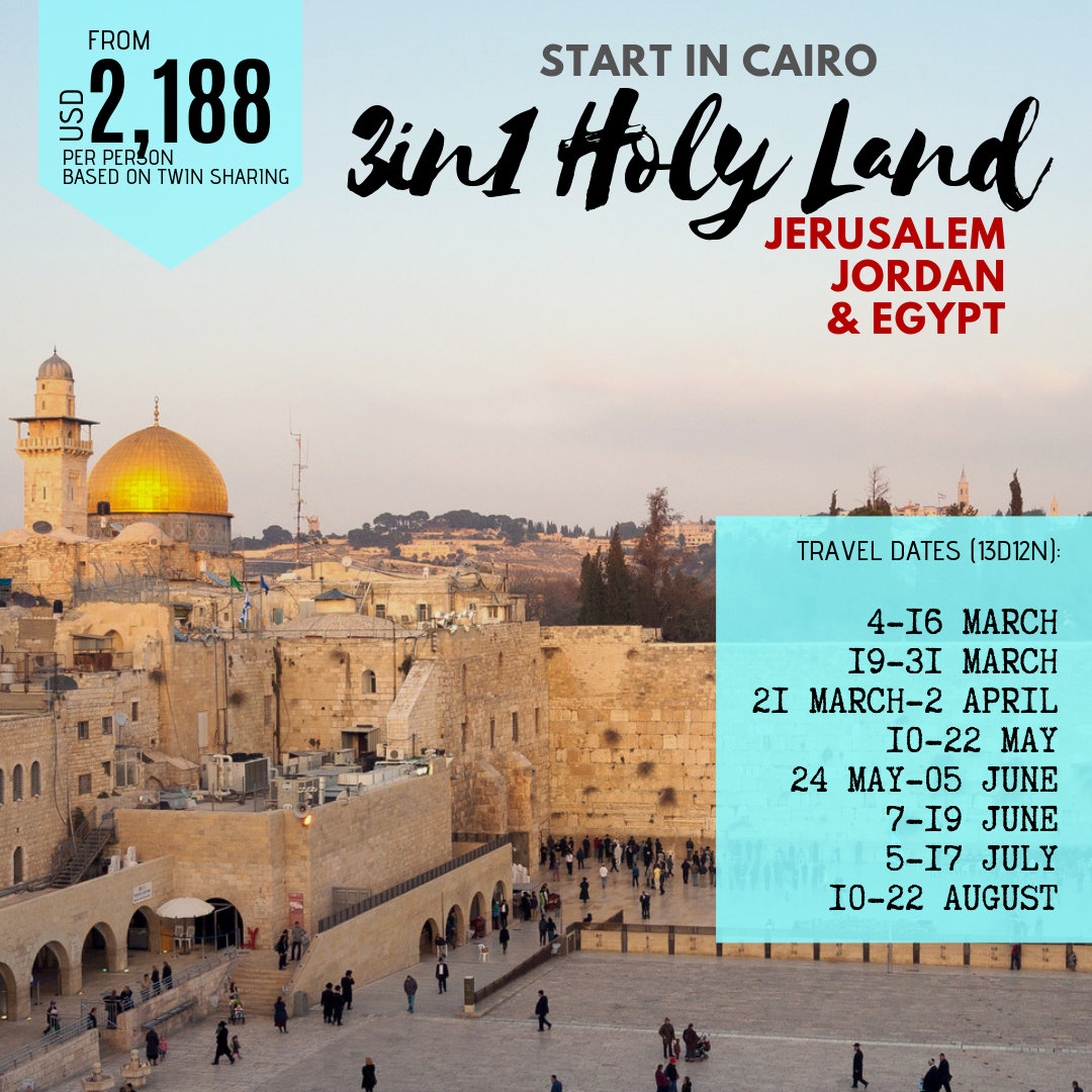 3-in-1 Holy Land from Cairo