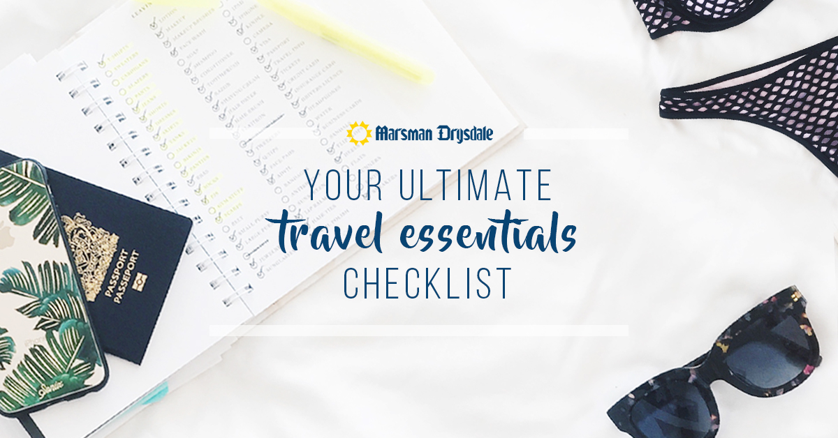 marsman drysdale ultimate travel essentials checklist